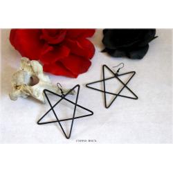 Boucle d'oreilles : pentagramme