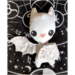 Batty White - peluche toute douce
