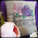 Fleur de bibliothèque - Housse de coussin
