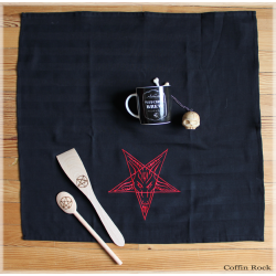 Baphomet Black kitchen towel