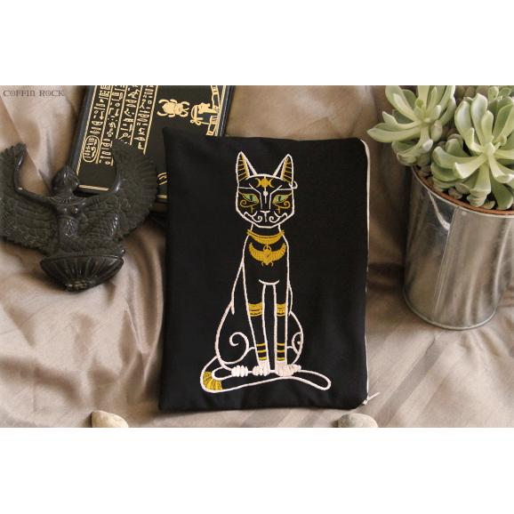 Bastet - Embroidered Clutch bag