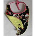 crânes et roses - bavoir croc