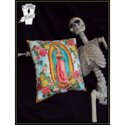 "coussin ""Vierge de Guadalupe"""