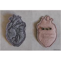Coeur anatomique - gris