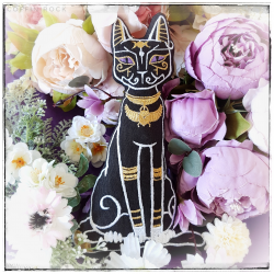Bastet - Little egyptian cat cushion