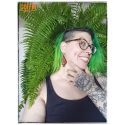 Boucles d'oreilles Monarque vert