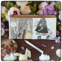 Clutch bag moody witches - patchwork