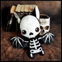 Skelettine Batty - peluche toute douce