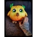 Hibou citrouille - peluche toute douce