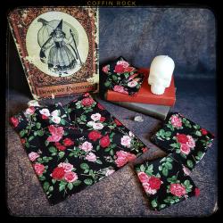roses : mouchoirs en coton