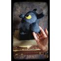 Hibou grincheux - peluche toute douce