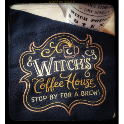 Torchon noir Witch's coffe house