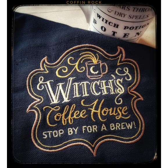 Torchon noir Witch's coffe house