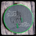 The Creature - Embroidered hoop