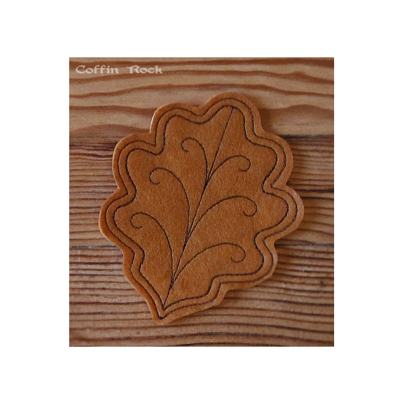 SET of 4 fall leaves coasters
