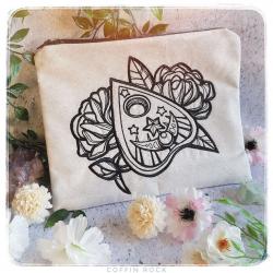 Beige Ouija Cursor - Embroidered Clutch bag