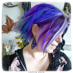 purple monarch earings