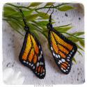 Boucles d'oreilles Monarque jaune-orange