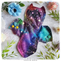 Colorful Cosmos bat shaped - Periodic Pad