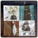 sorcière grognonne : mouchoirs en coton
