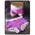 XL - pink and violet cosmos - Coffinshort - period panty