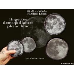 Gravure lune - lingettes démaquillantes lavables