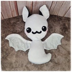 Ghostly Batty - bat plushy