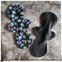 Black PUL and zombie minky - Moonrise Period Pad