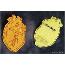 Anatomic heart brooch