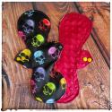 crânes multicolores