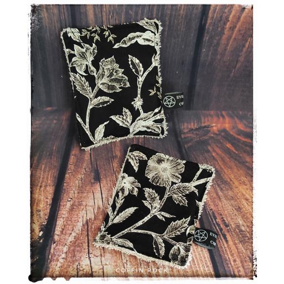 fleurs -  Lingette démaquillante lavable