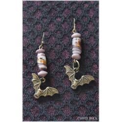 Boucle d'oreilles : vampyr violet