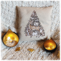 embroidered pillow case + pillow