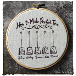 Natural Deer - Embroidered hoop