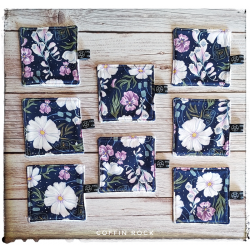 golden flowers - Washable demakeup pad