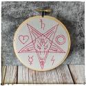 gargoyle mini embroidered hoop