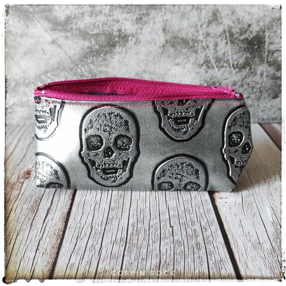 skulls pencil case