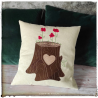 Flower tree cushion
