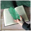 natural lace bookmark