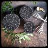 black sparkles - bowl topper