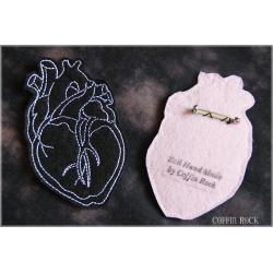 Coeur anatomique - noir