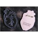 Anatomic heart brooch