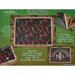 Tapis de tirage de cartes en velours