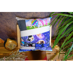 coussin patchwork chat kitsh