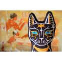 Ô Bastet ! coussin en forme de chat, Bastet déesse égyptienne de la joie du foyer