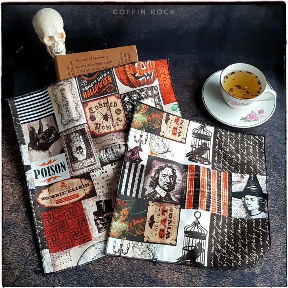 retro dark : mouchoirs en coton