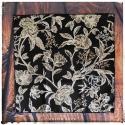fleurs : mouchoirs en coton