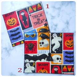 retro halloween : mouchoirs en coton