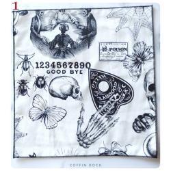 retro ouija cotton handkerchief