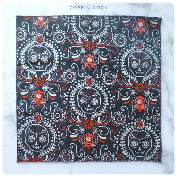skull fiesta cotton handkerchief